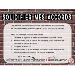 Solidifier mes accords
