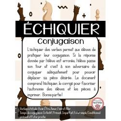 Échiquier: Conjugaison