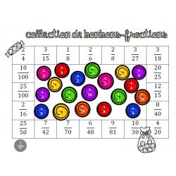 Collection de bonbons-fractions