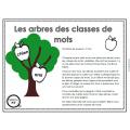 Les arbres des classes de mots