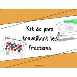 Kit de jeux sur les fractions