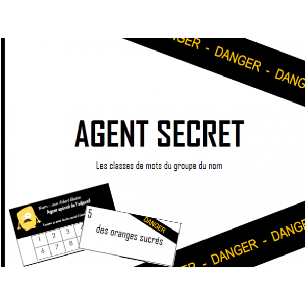 Agent secret - nom, déterminant et adjectif
