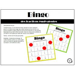 Bingo des fractions équivalentes