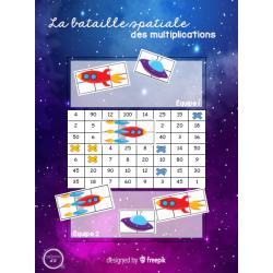 Bataille spatiale des multiplications