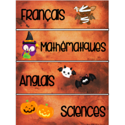 Menu du jour - Octobre - Halloween