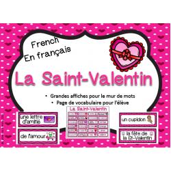 Mur de mots - vocabulaire thématique St-Valentin