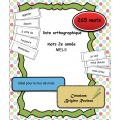 liste orthographique mots 2e année