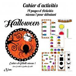 cahier d'activité halloween niveau 1 , 2 et 3