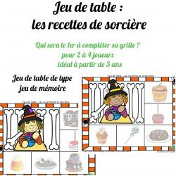jeu de table : Les recettes de sorcière