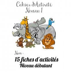 cahier d'activité : animaux d'Afrique niveau 1à3