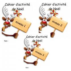 cahier d'activité noel niveau 1  à  3