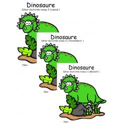 pack éconimique cahier d'activité 1 à 3 dinosaure