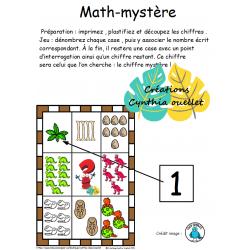 math mystère dinosaure