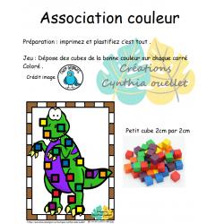association cube de couleur