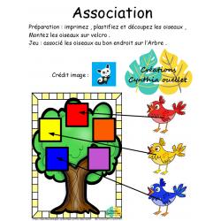 jeu d'association oiseaux