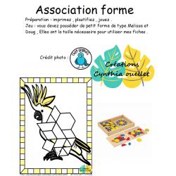 association de forme oiseaux