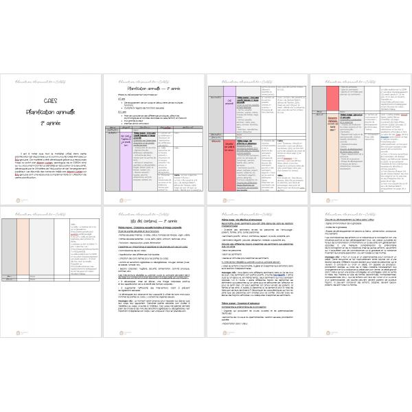 Planification - Éducation à la sexualité - 2e