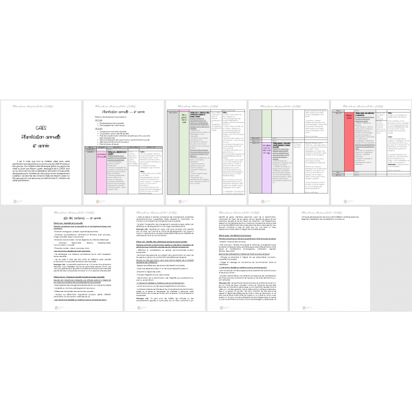 Planification - Éducation à la sexualité - 6e
