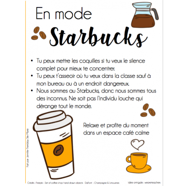 En mode Starbucks - Moment de travail personnel
