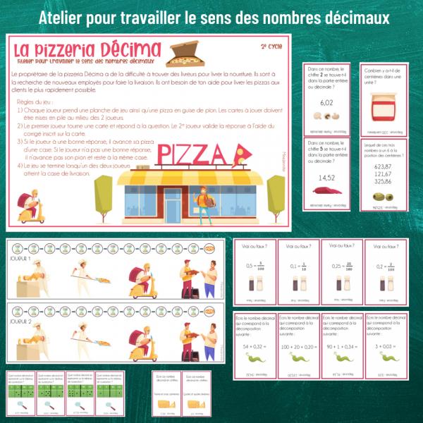 Pizzeria Decima - Nombres décimaux - 2e cycle