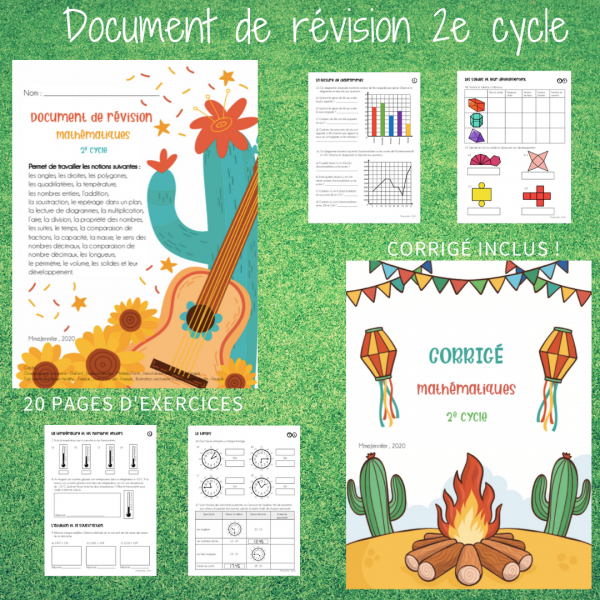 Document de révision - maths - 2e cycle