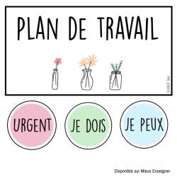 Plan de travail - Épuré - Simple