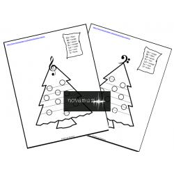 Coloriages de Noël3_clé de sol OU clé de fa