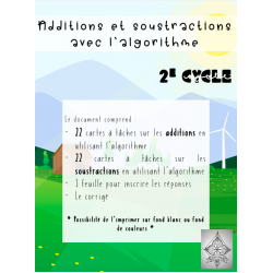 Additions et soustractions, 2e cycle