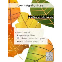 Les régularités, préscolaire