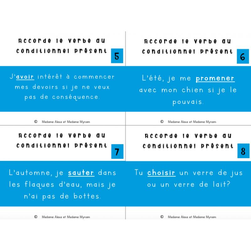 Cat Conjugaison Au Conditionnel Present