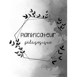 Planificateur noir et blanc - RÉUTILISABLE