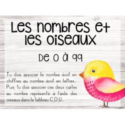 Les nombres et les oiseaux - De 1 à 99