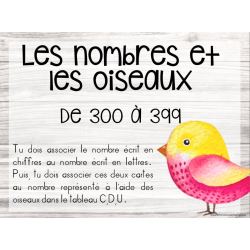 Les nombres et les oiseaux - 300 à 399
