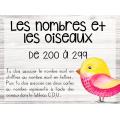BUNDLE - Nombres et oiseaux - 1 à 499