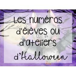 Numéro d'élèves ou d'ateliers - Halloween