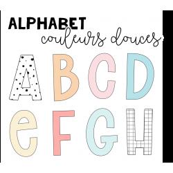Alphabet : couleurs douces