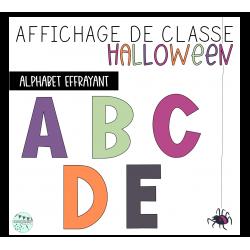 Alphabet - Affichage Halloween