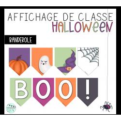 Banderole - Affichage Halloween