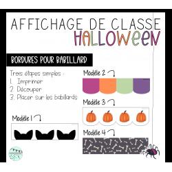 Bordures - Affichage Halloween