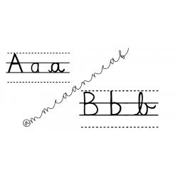 Alphabet vierge (script et cursif)