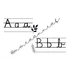 Alphabet floral noir&blanc (script et cursif)
