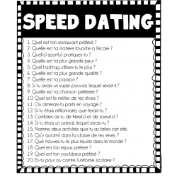 Speed Dating - 20 questions