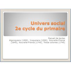 univers social, 2e cycle primaire