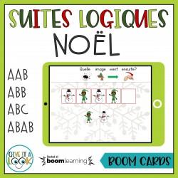 Suites logiques de Noël (Boom Cards)