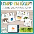 Lourd ou léger | Activités avec supports visuels