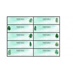 étiquettes élèves feuilles tropicales