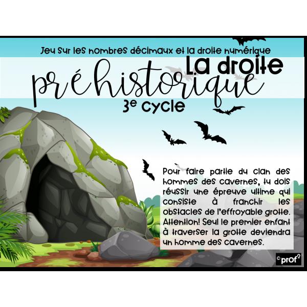 La droite préhistorique-Nombres décimaux