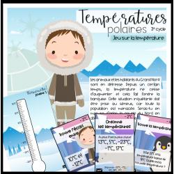 Les températures polaires- jeu sur la température