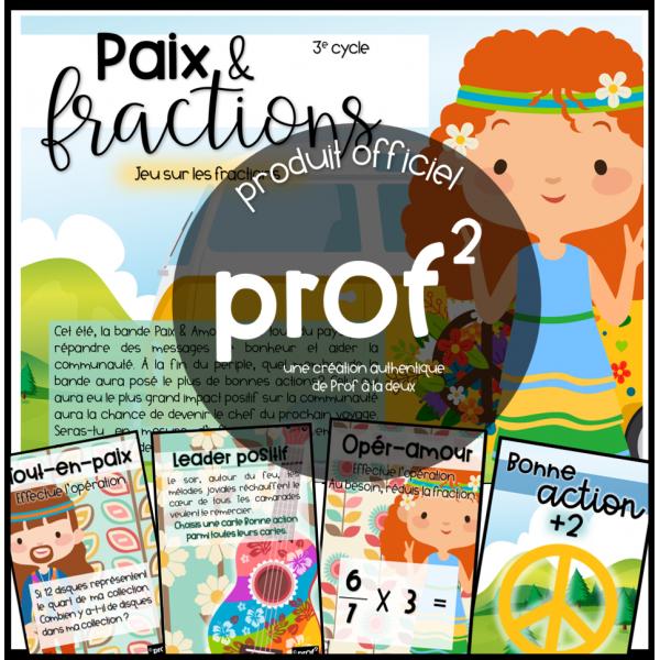 Paix et fractions- jeu fractions (révision)