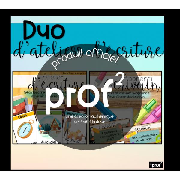 Duo d'ateliers d'écriture
